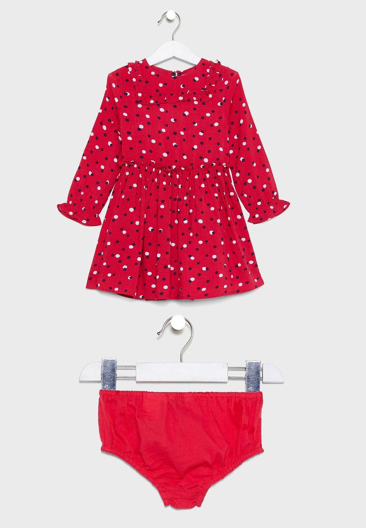 فستان منقط + سروال