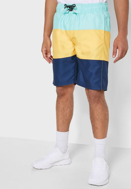 Beach Colour Block Shorts