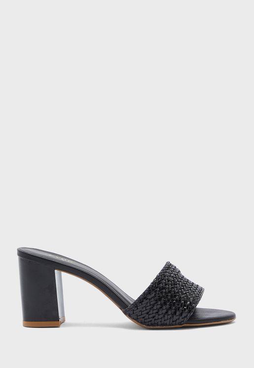 Mule Block Low Heel Sandal
