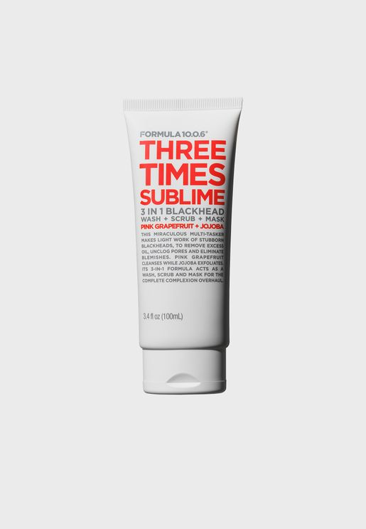 Three Times Sublime - Wash + Scrub + Mask