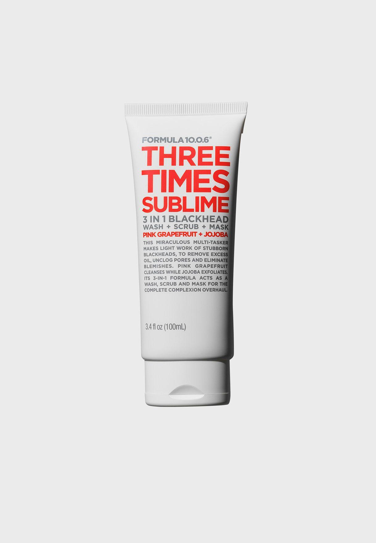Three Times Sublime - Wash + Scrub + Mask