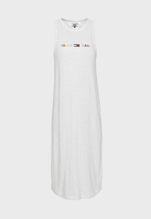 Logo Tank Dress