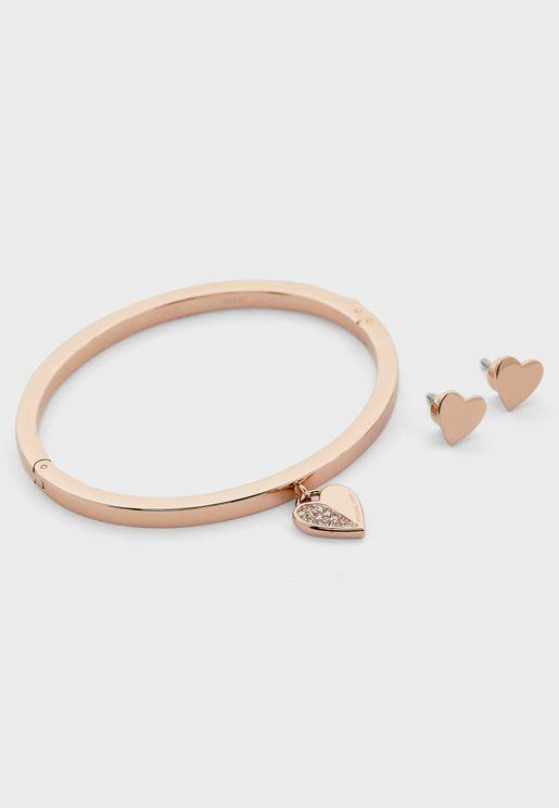Bracelet + Drop Earring Set