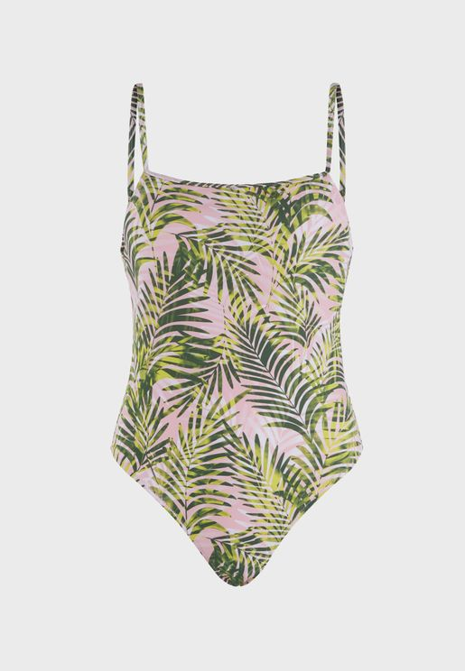 Cami Strap Printed Swimsuit