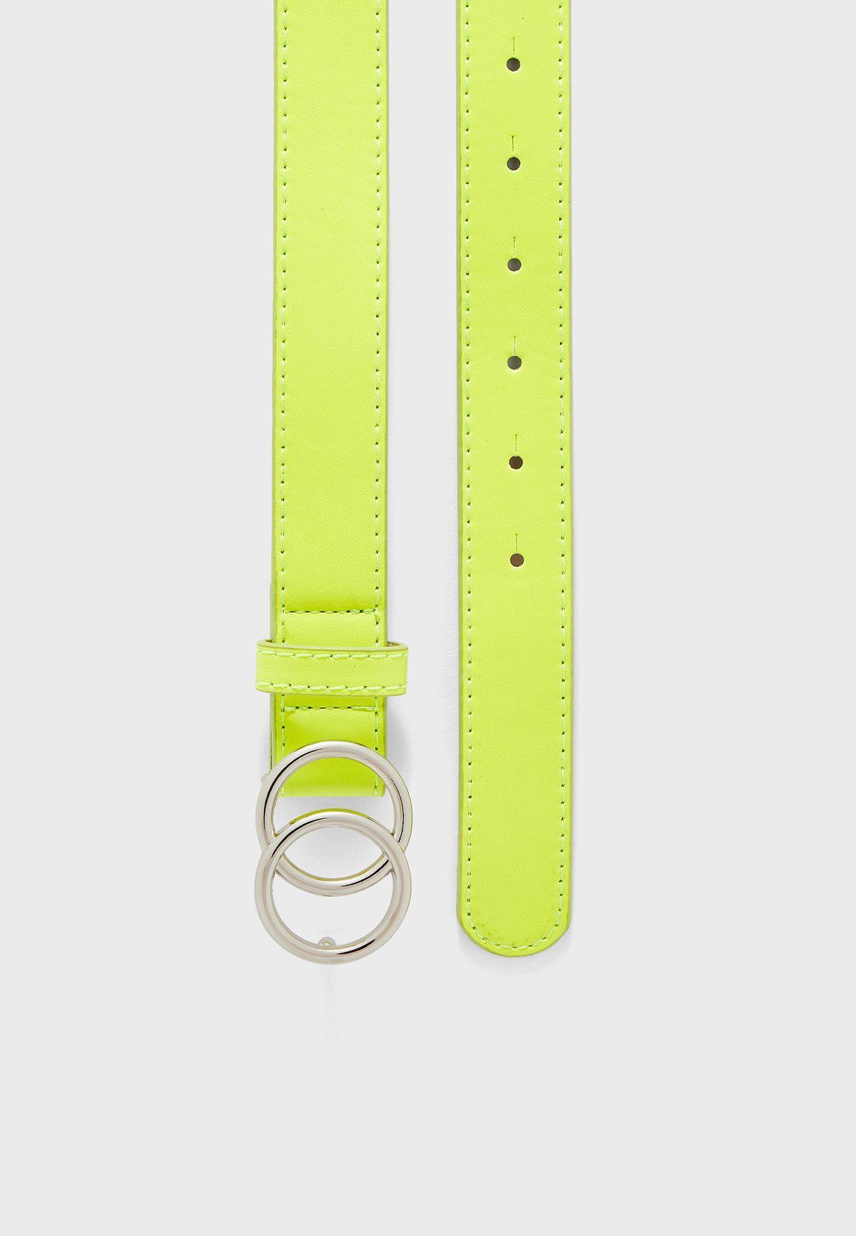 Neon Double Circle Belt