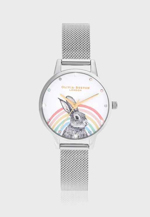 OB16WL89 Rainbow Bunny Watch