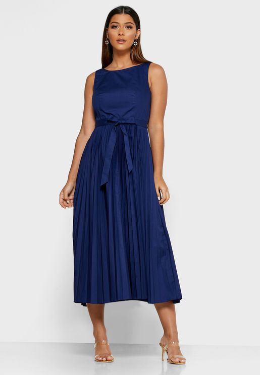 Dr Patti Pleated Skater Dress