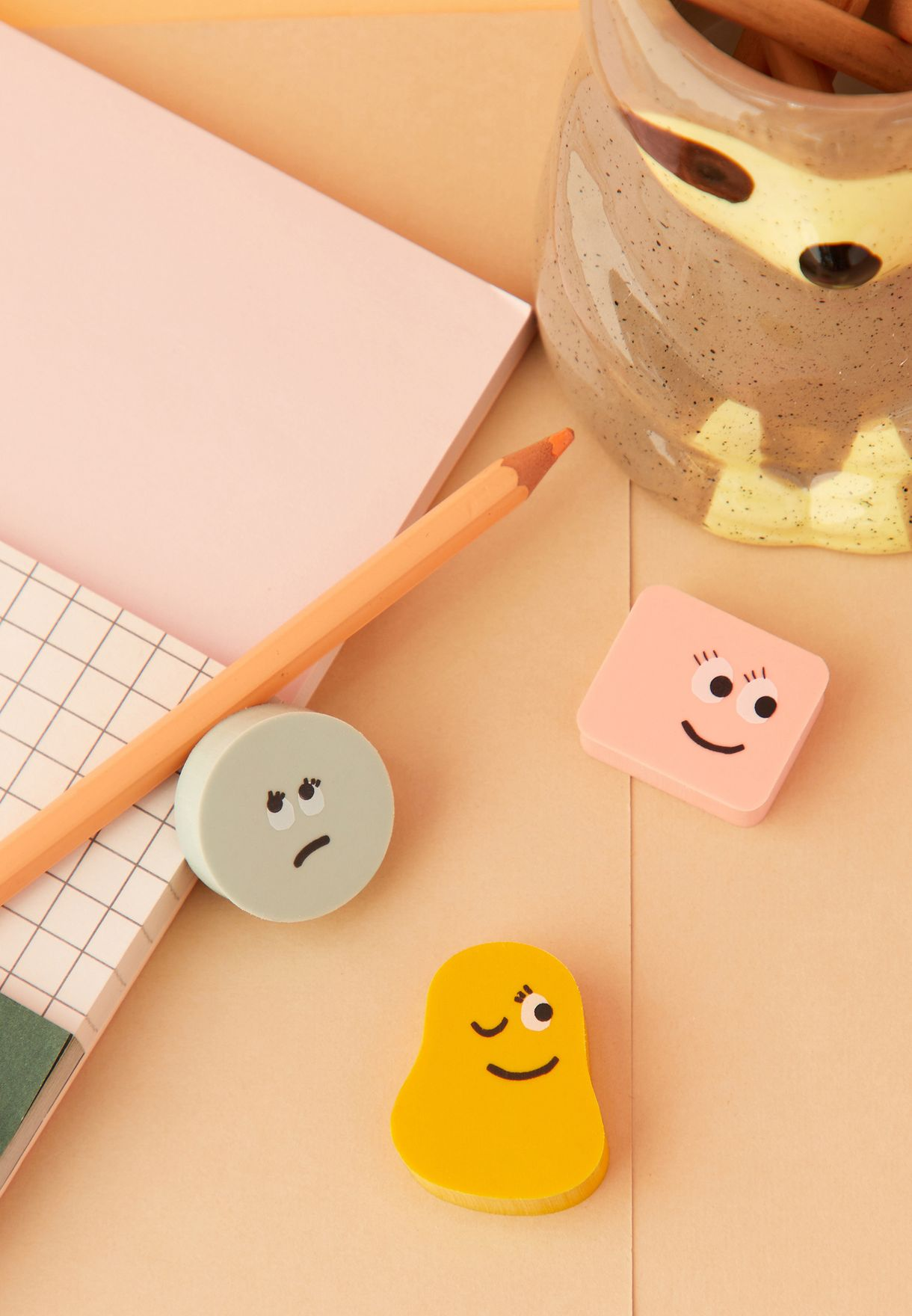Mini Faces Eraser Pack