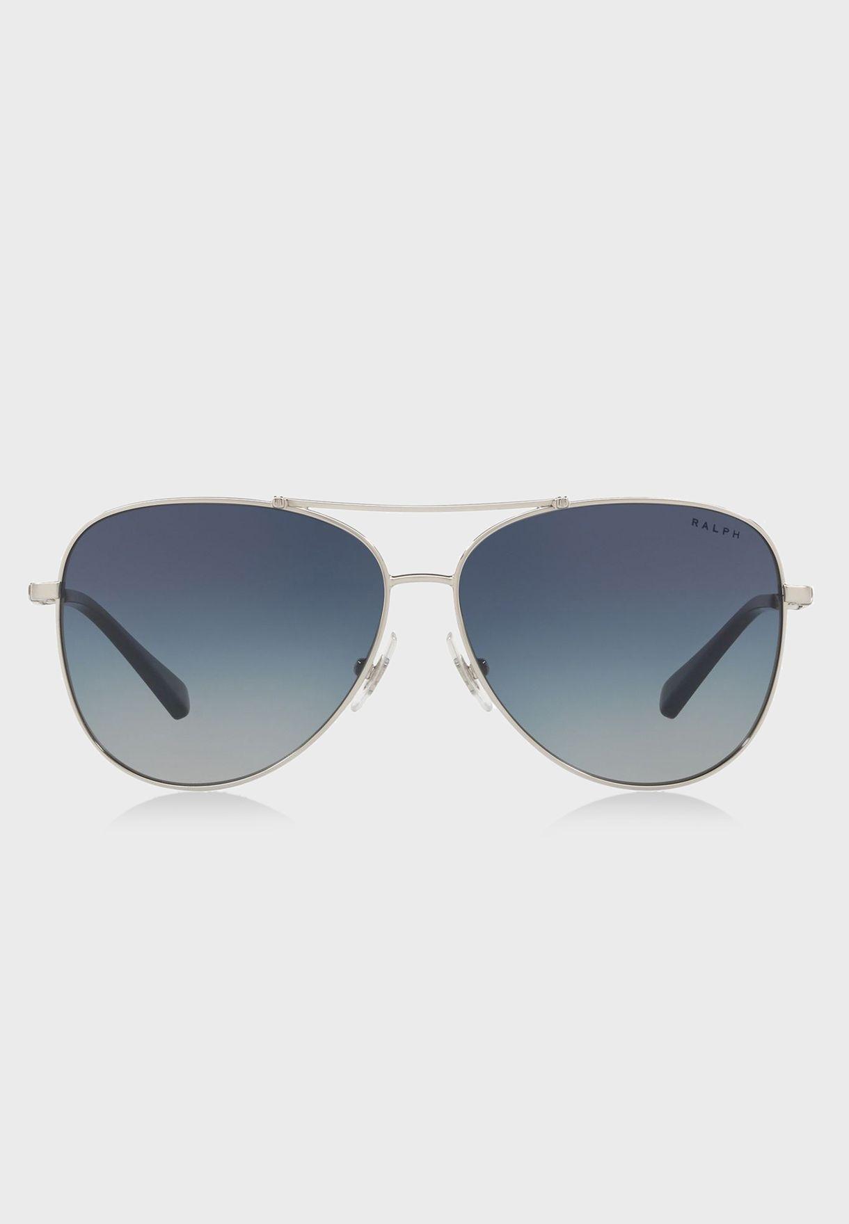 20648d82c28 Shop Polo Ralph Lauren silver Aviator Sunglasses 8.05E+12 for Women ...