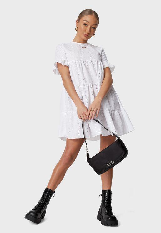 فستان ميني بنمط طبقات