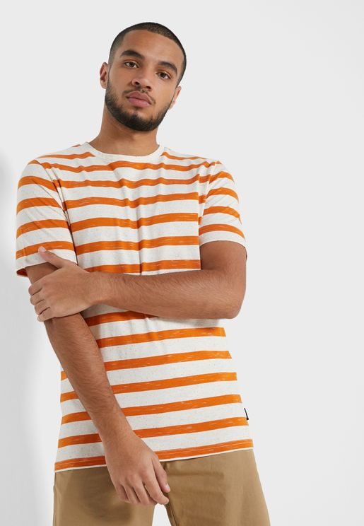 Elky Striped Crew Neck T-Shirt