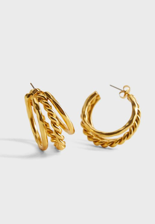 Ritchie Mixed Hoop Earrings