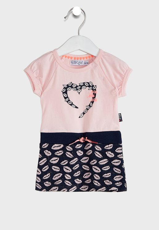 Kids Graphic T-Shirt + Skirt Set