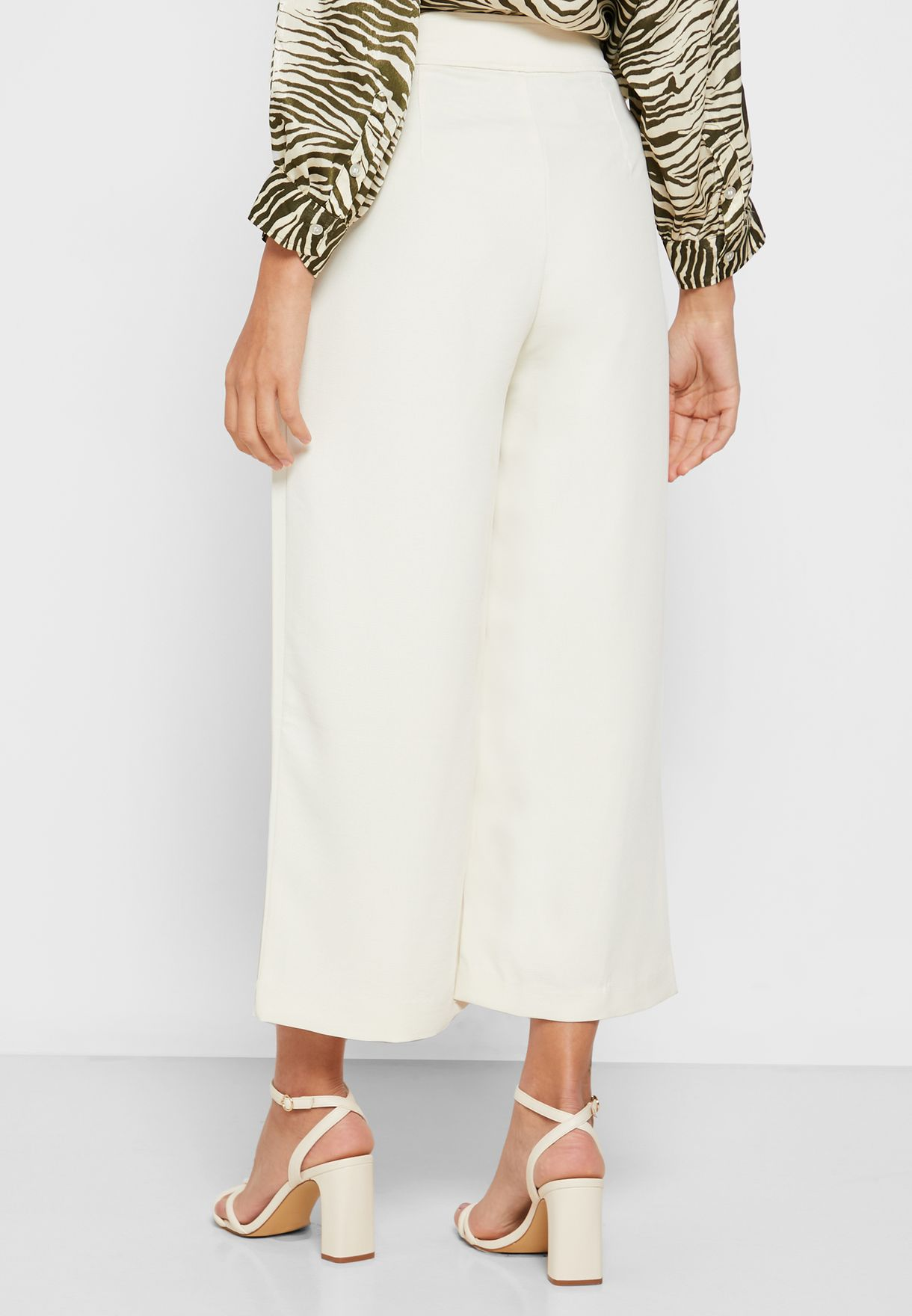 Front Pleat Wide Leg Pants