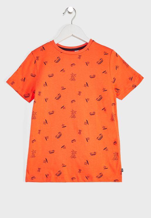 Kids Surfer Print T-Shirt