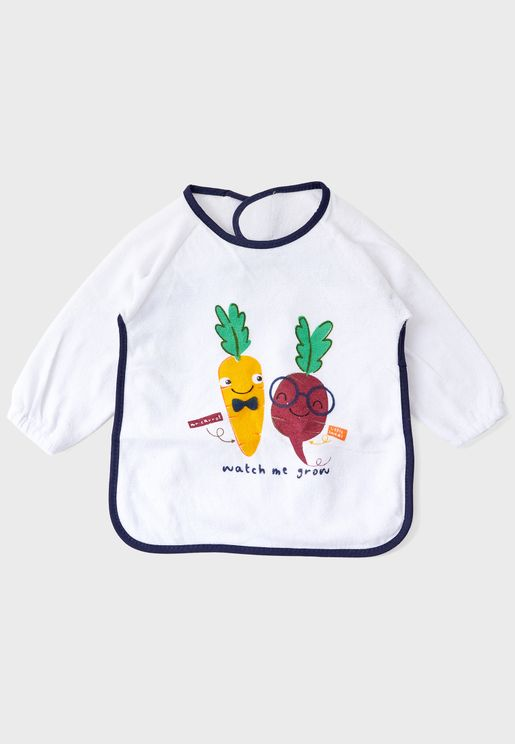 Watch Me Grow Long Sleeve Bib