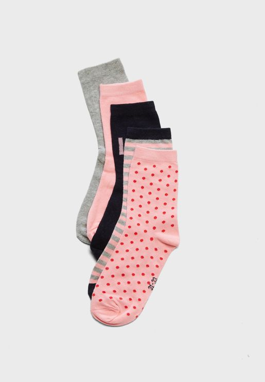 Teen 5 Pack Socks