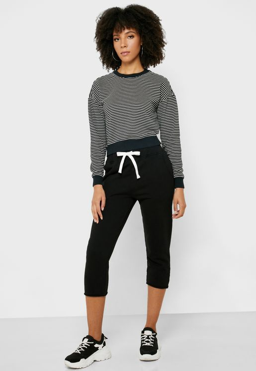 Tie Waist Cropped Joggers