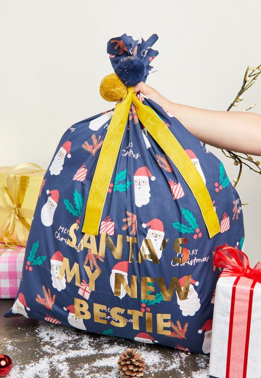 Kids Slogan Santa Sack