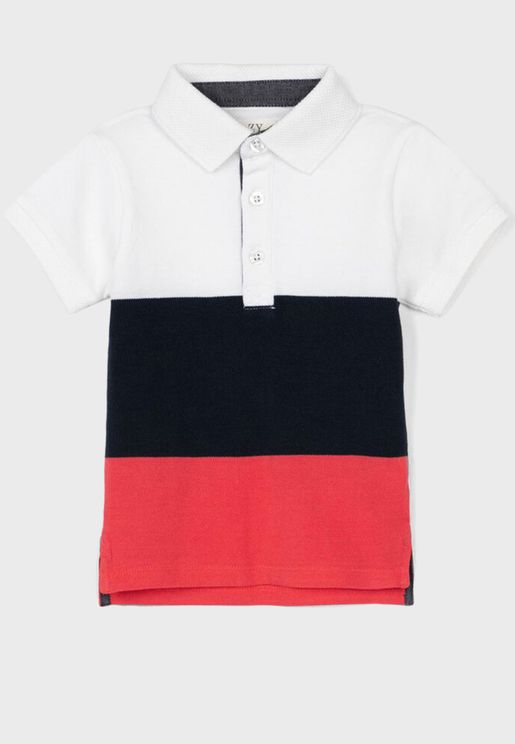 Infant Color Block Polo