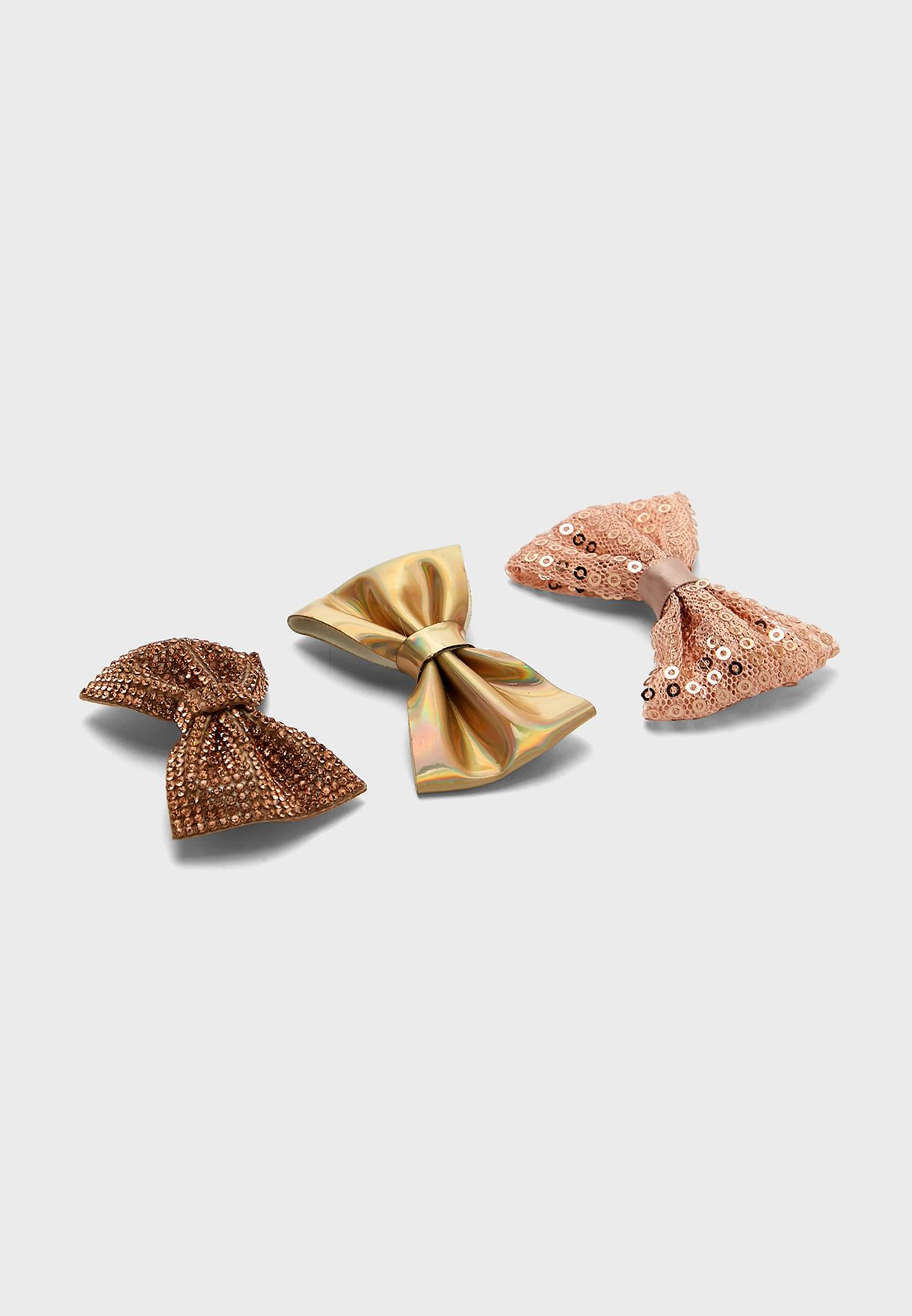 Multipack Bow Detail Hairclips