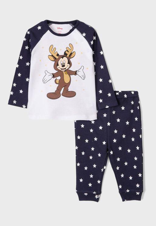 Infant Christmas Mickey Pyjama Set