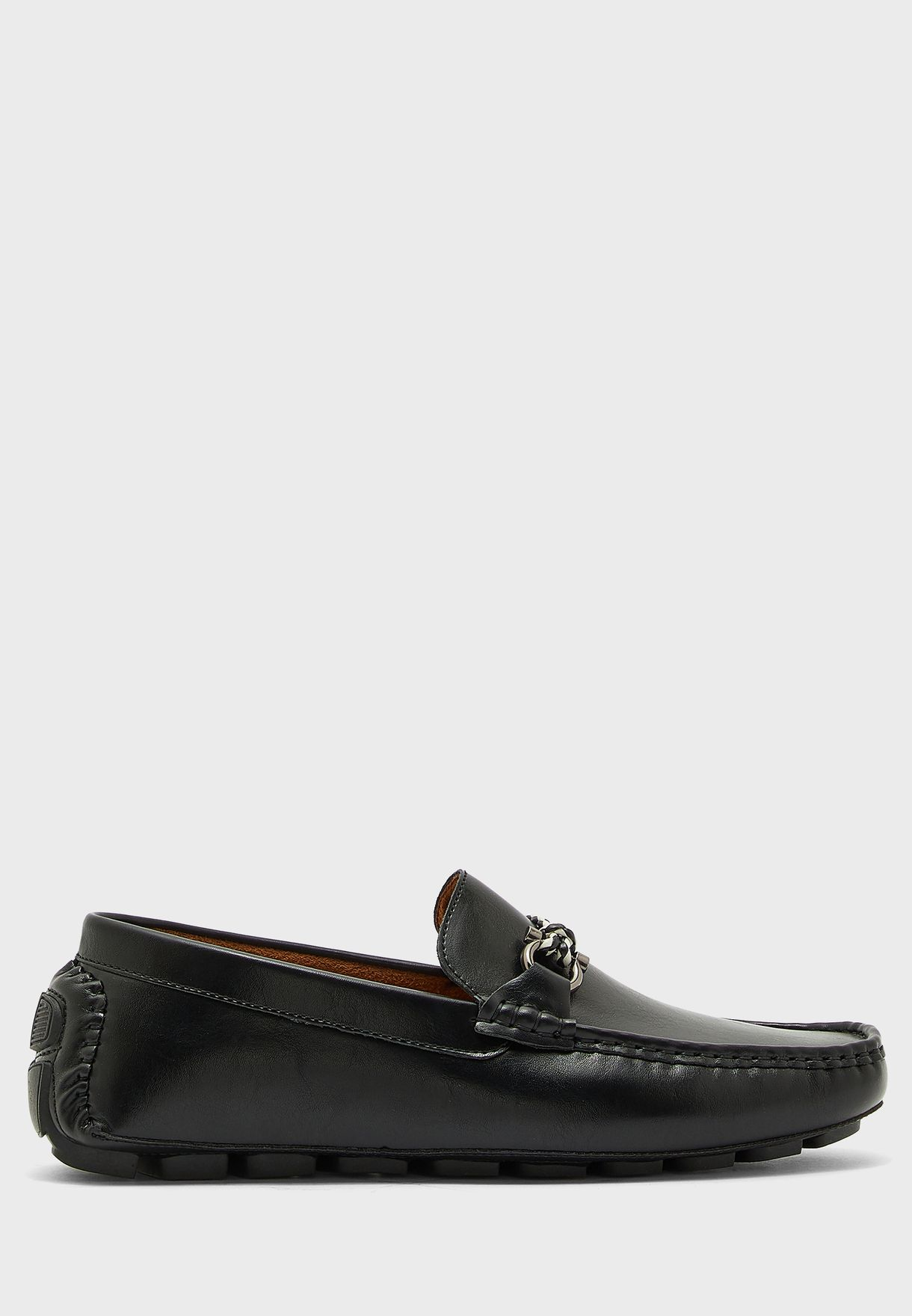 Saddle Detail Driving Loafers