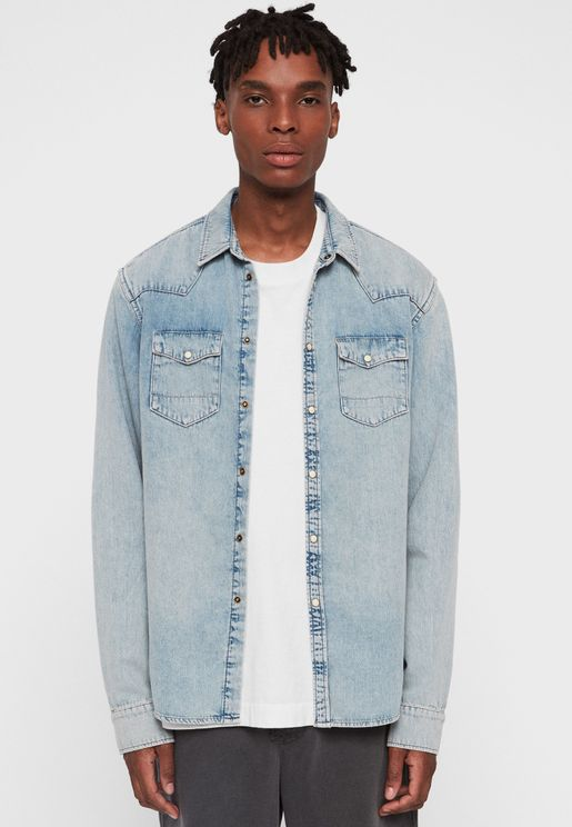 Isuka Regular Fit Denim Shirt