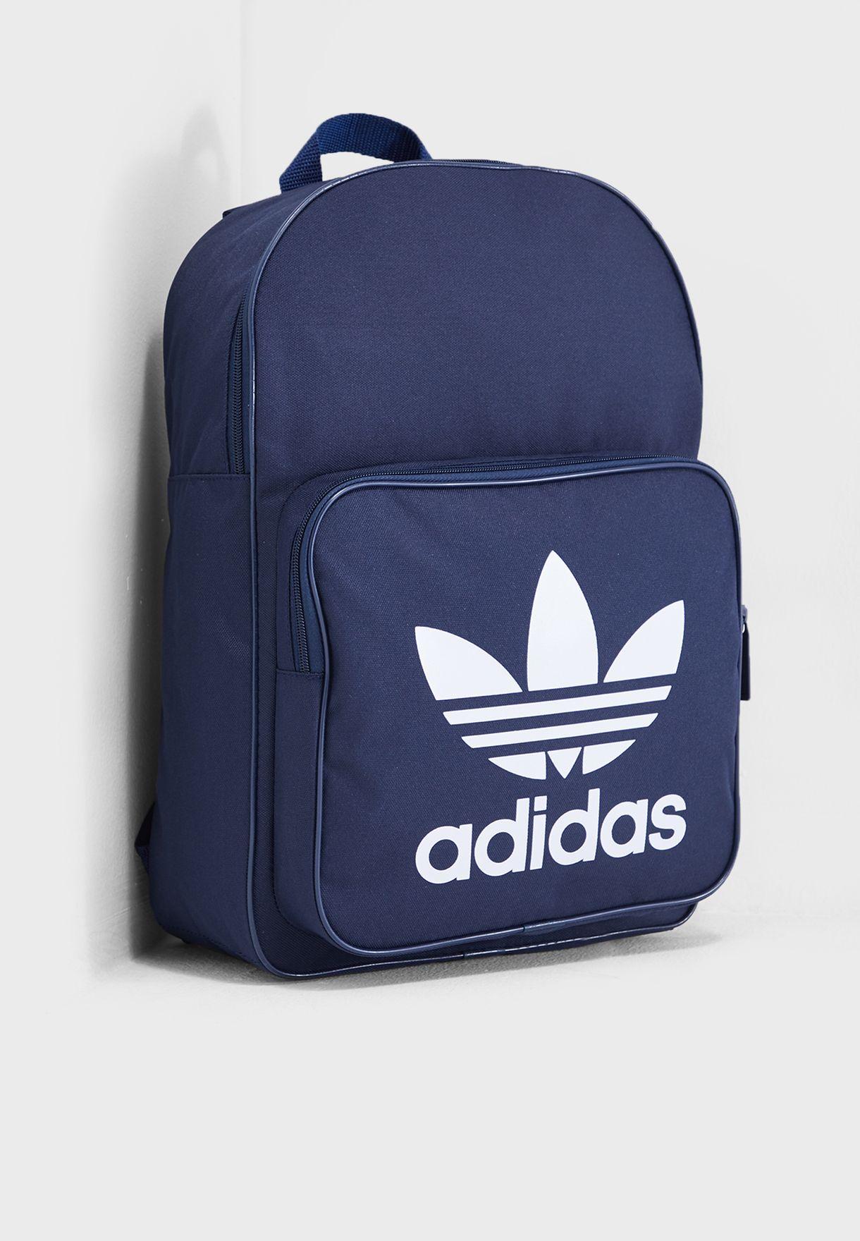 Shop adidas Originals navy adicolor Classic Trefoil Backpack DW5189 for Men  in Saudi - 14448AC39APP 4a58a56fbb468