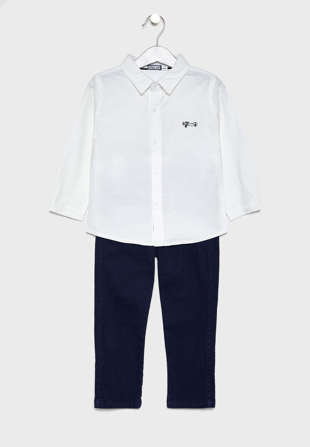 Little Essential Shirt + Jeans Set