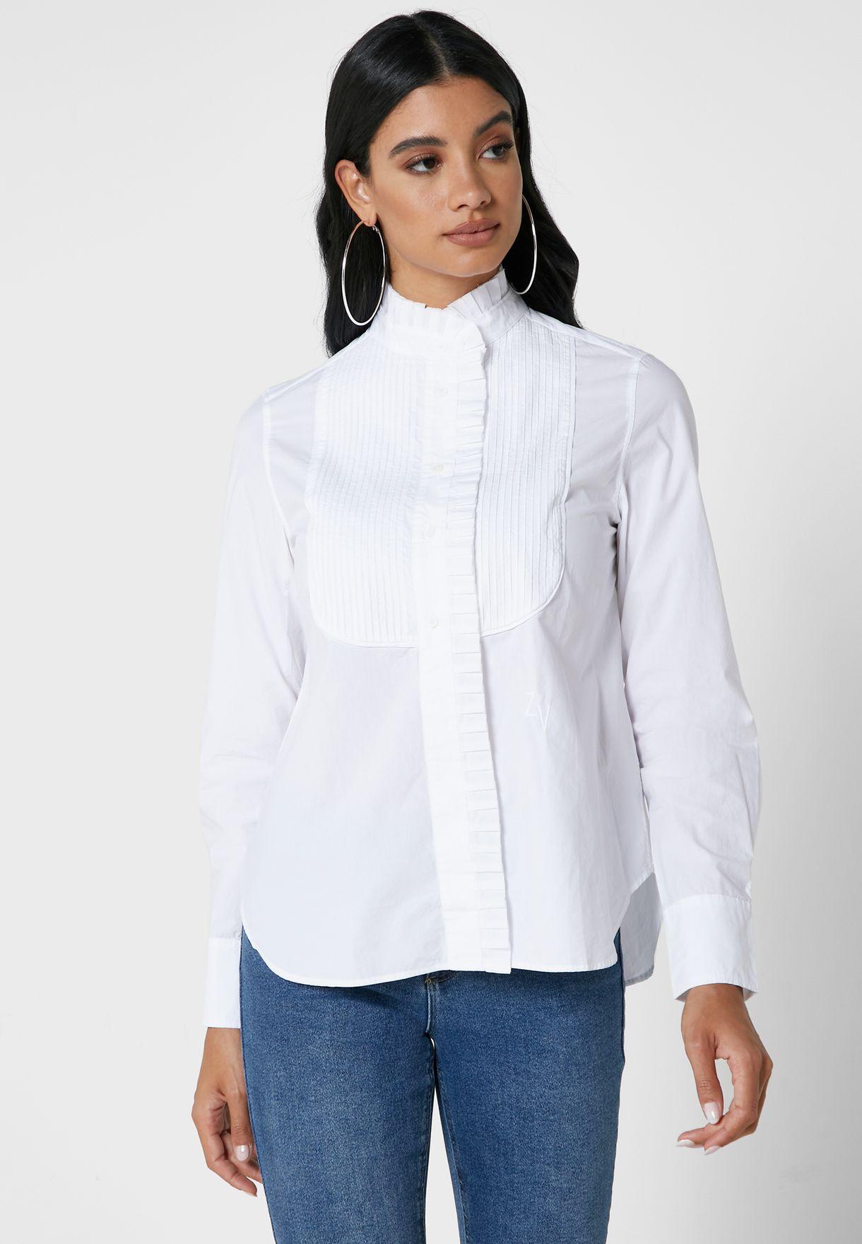 قميص انيق مزين بكشكش