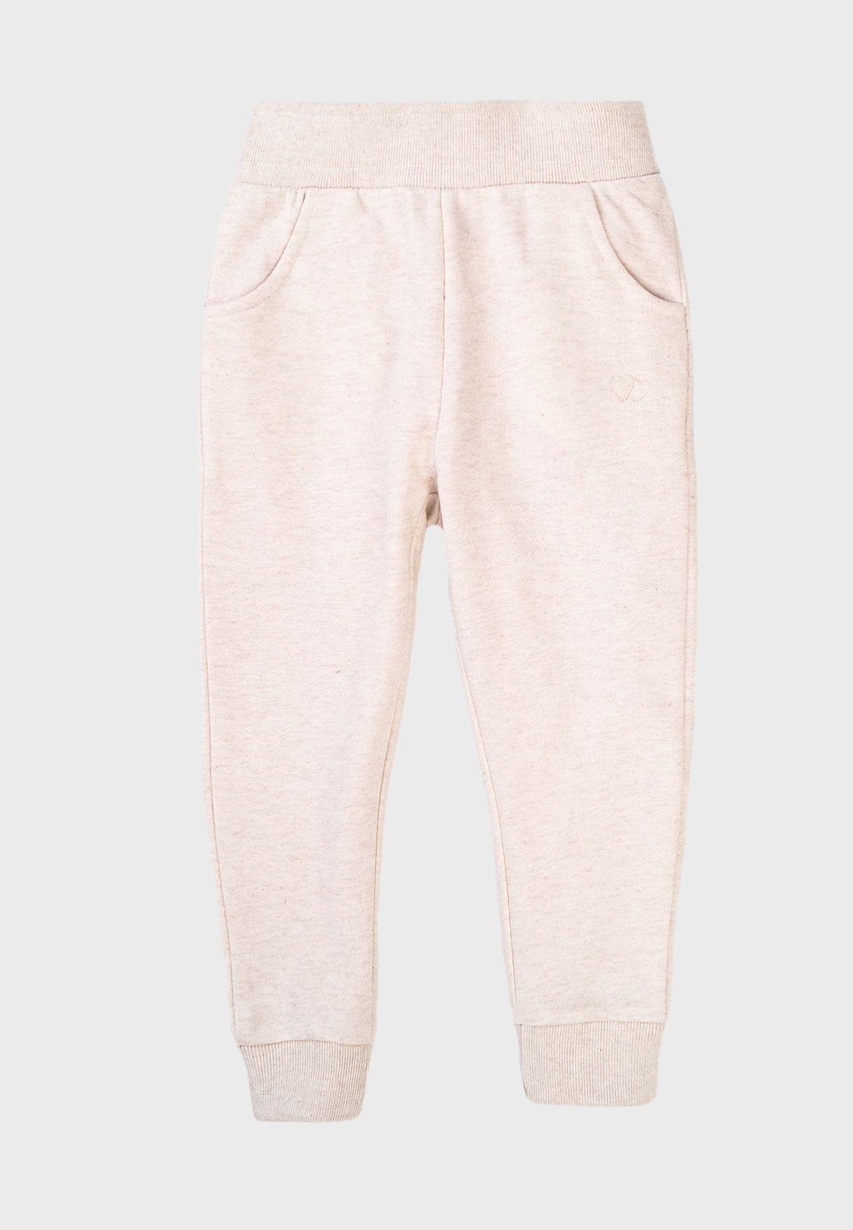 Kids Basic Embroidered Sweatpants