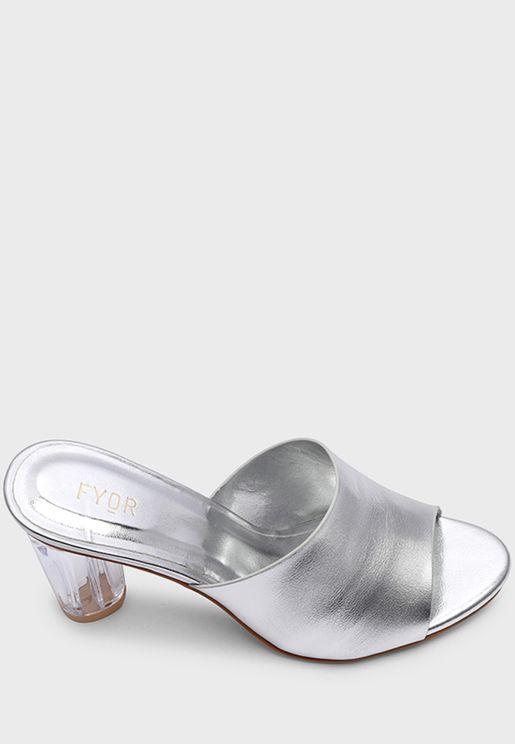 Round High Heel Sandal