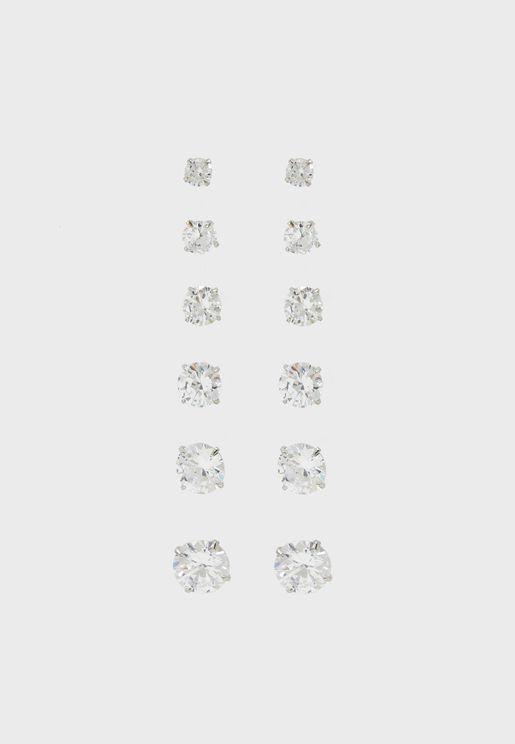 مجموعة من 6 أقراط