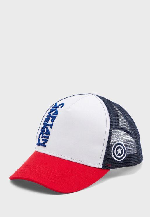 Captain America Curved Peak Cap