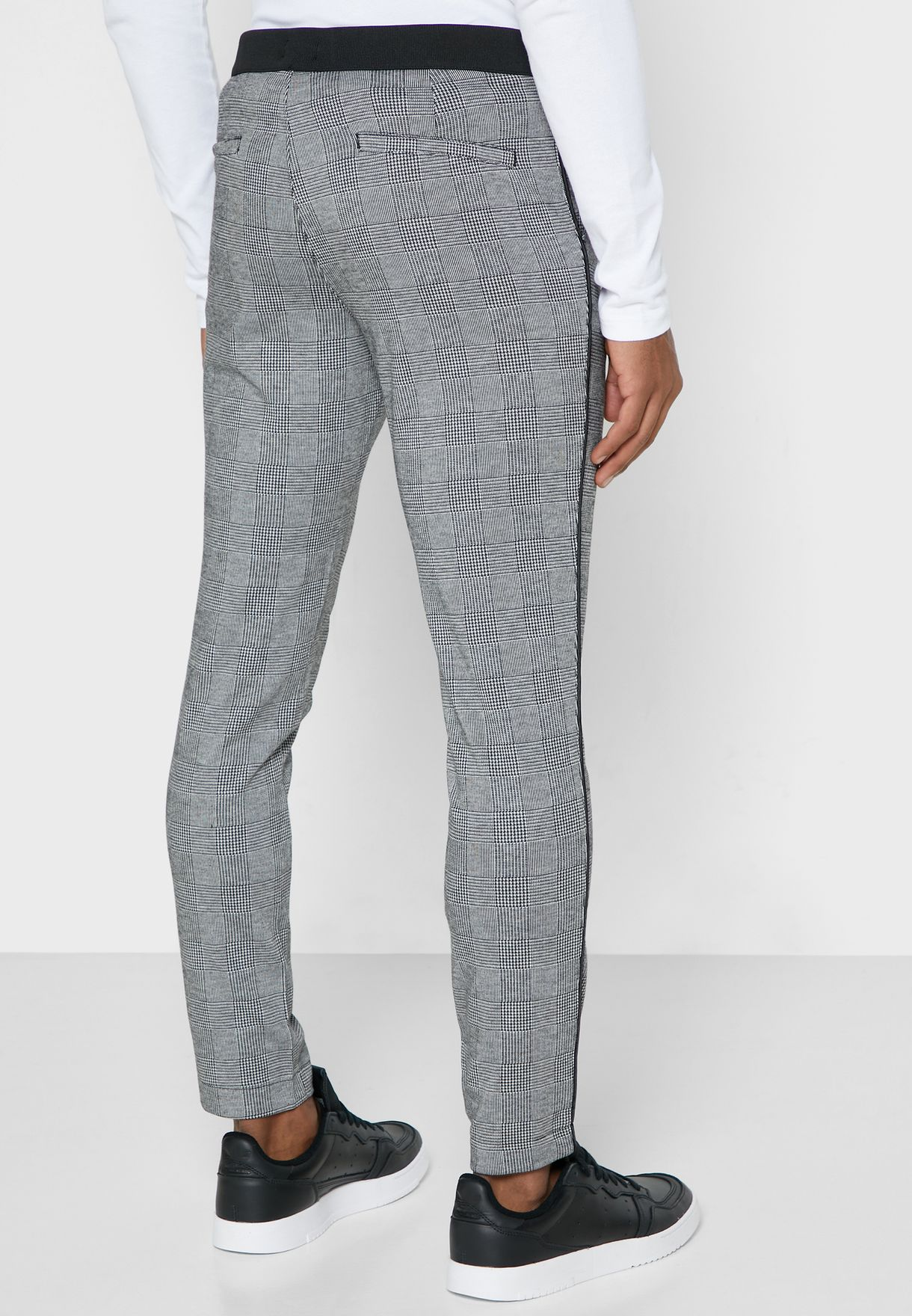 Checked Drawstring Trousers
