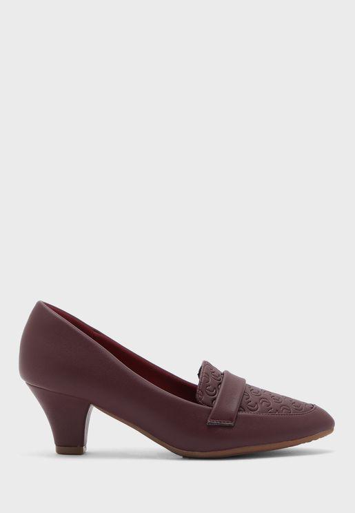 حذاء كاجوال بكعب متوسط