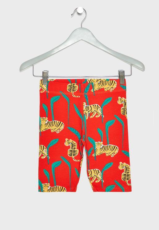 Kids Hailey Tiger Print Shorts