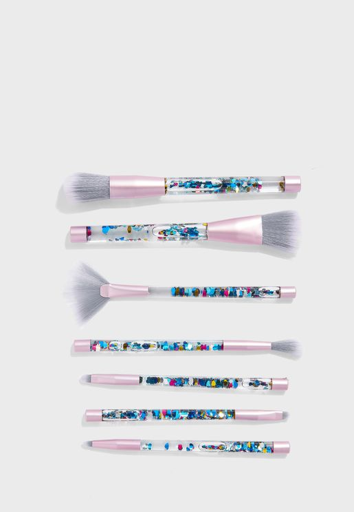 7 Pack Makeup Brush Set with Pouch