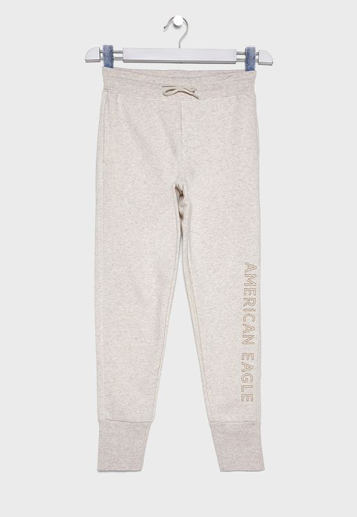 Kids Cuffed Printed Sweatpants