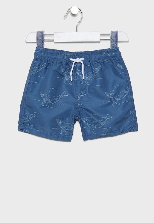 Kids Whale Shorts