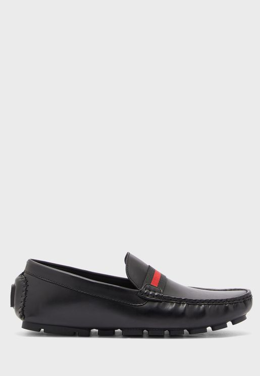 Webbing Saddle Loafers