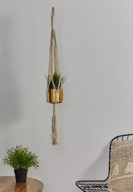 Hanging Gold Planter