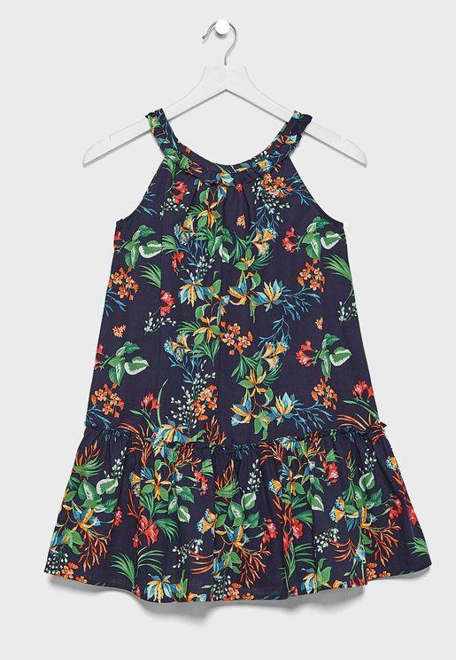 فستان مزين بأزهار