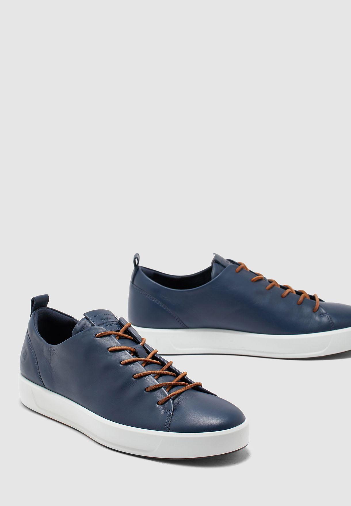 Shop Ecco navy Soft 8 Dritan Sneakers