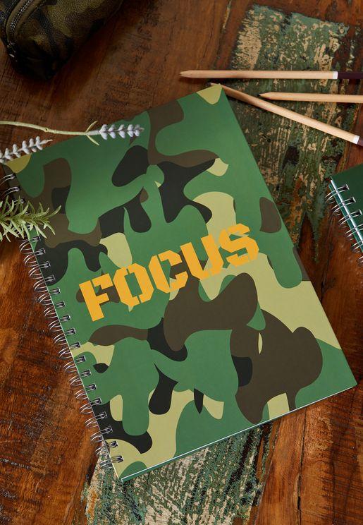 A4 Camo Notebook