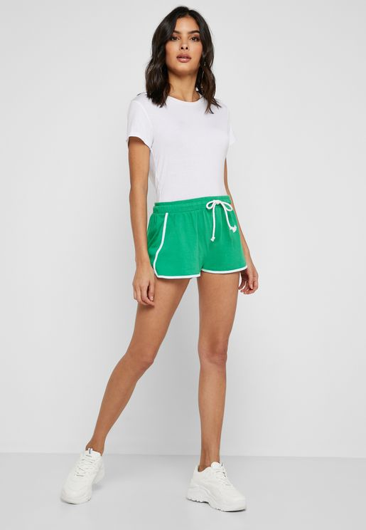 Contrast Piping Running Shorts