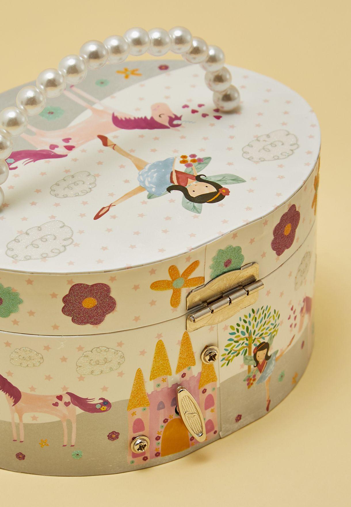 صندوق موسيقي لحفظ المجوهرات
