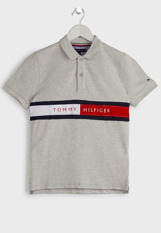 Teen Flag Logo Polo Shirt