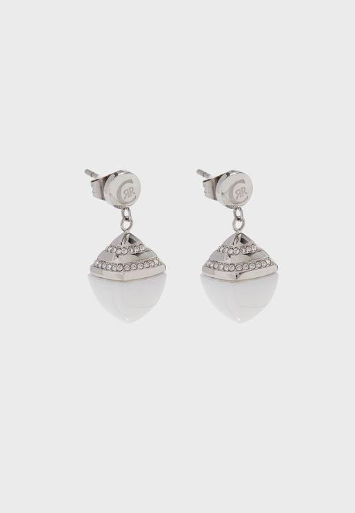 Ceramic Swarovski Stone Drop Earrings